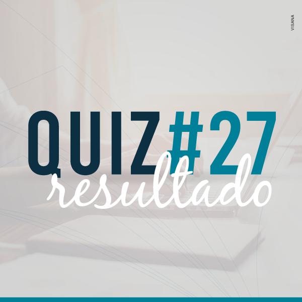 Resultado do Quiz #27