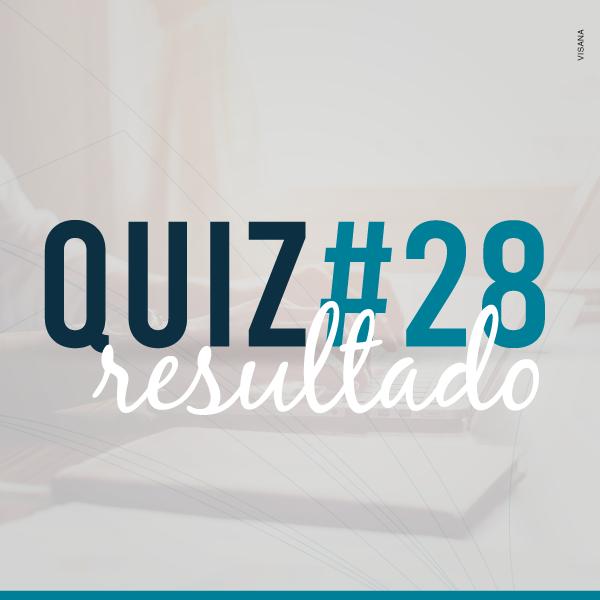 Resultado do Quiz #28